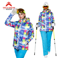Winter Snow Ski Jacket And Ski Pant Women Snowboard suit Outdoor Thermal Waterproof Windproof Professional Mountain Skiing suits