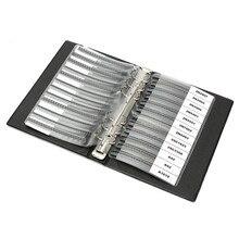 Faux Leather Plastic Paper Black SMD Chip Transistors Assortment Kit 36 Values 25pcs Assorted Sample Book 19cm x 13cm x 3cm