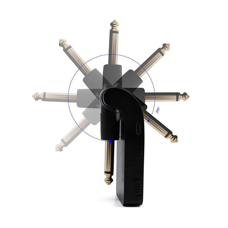 UHF Sans Fil Guitare Emetteur Récepteur Système Batterie Intégrée Transmission RangeUSB Rechargeable pour Électrique Guitare Basse - 3