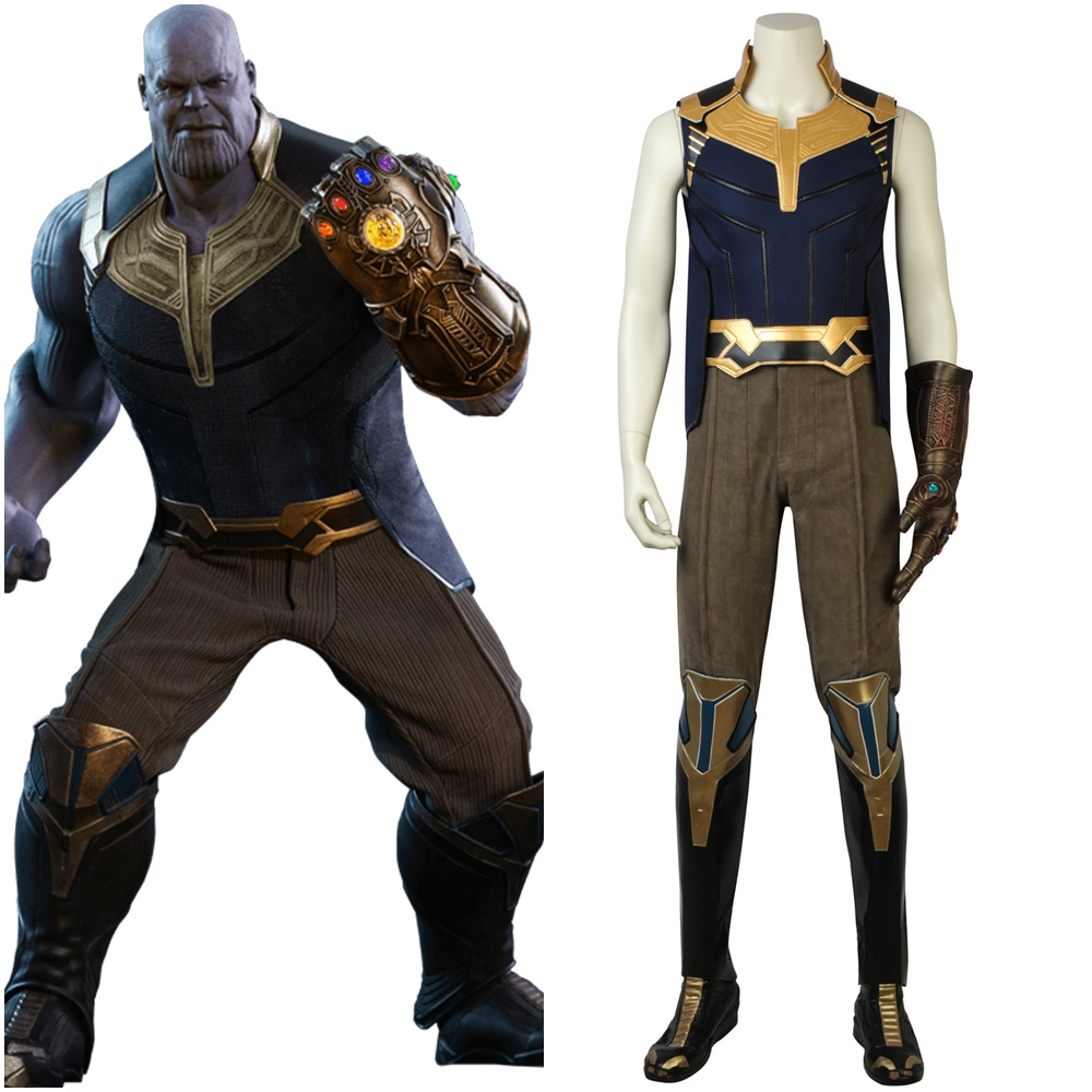 New Avengers Infinity War Thanos Cosplay Costume Full Set