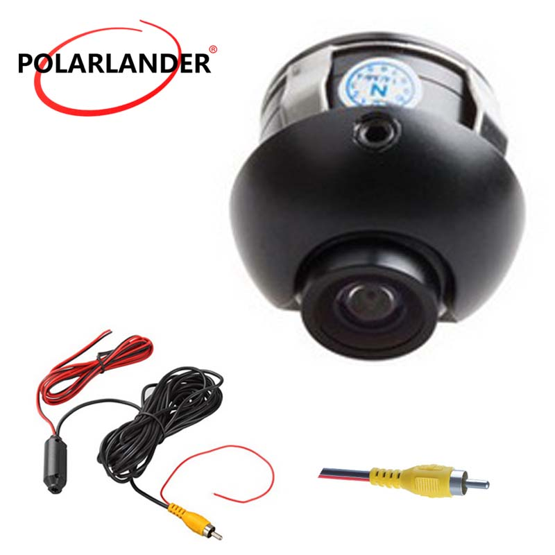 Best selling 170 degree wide angle HD night vision 360 degree 18.5mm drilling CCD car rear view camera reversing backup image