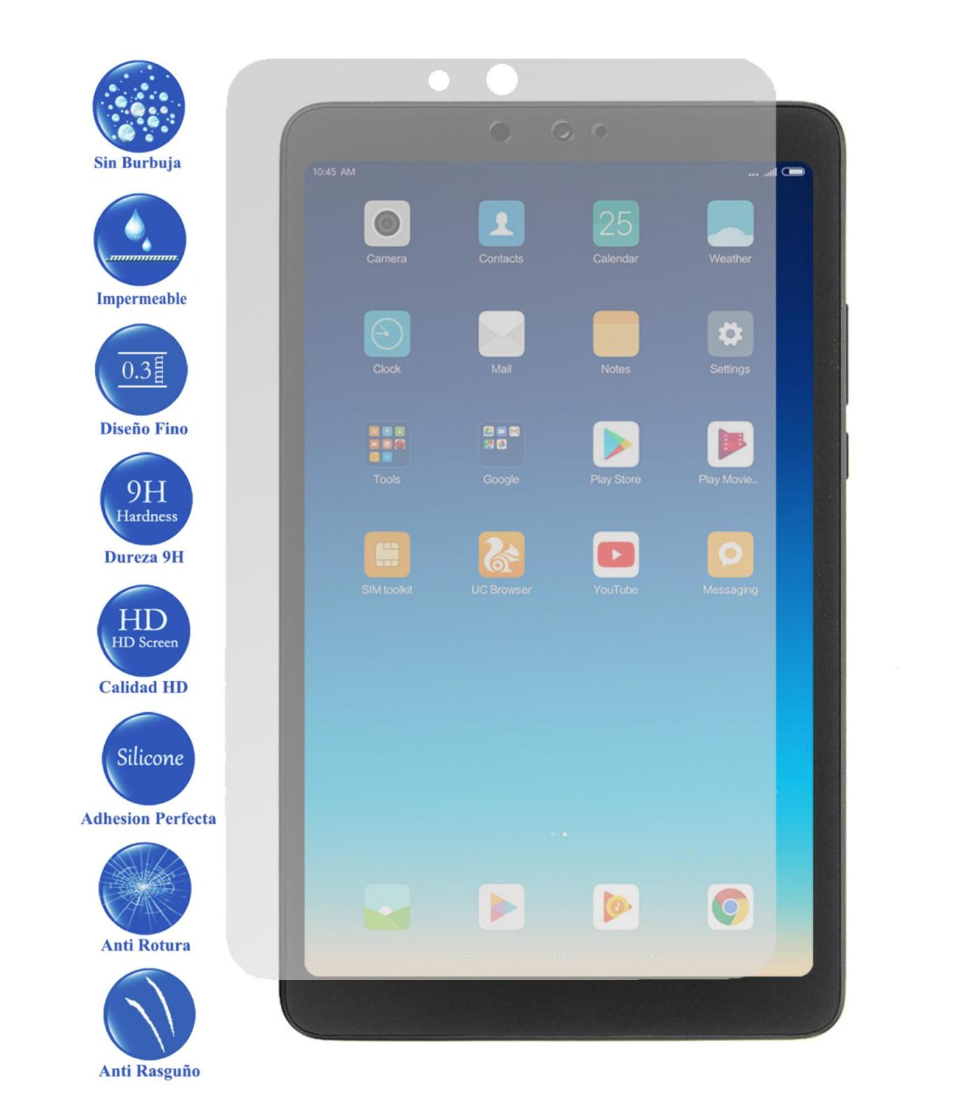 Tempered Glass LCD cover screen protector vidrio 9 H Tablet for Xiaomi Mi pad 4 8|Phone Screen Protectors| |  - title=