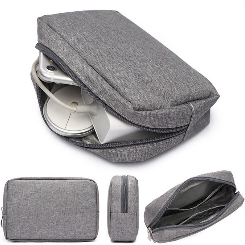 Portable Case For Headphones Closet Organizer Digital Accessories Charger Data Cable Storage Bag Usb Zipper Packet Travel Sack in Storage Bags from Home Garden