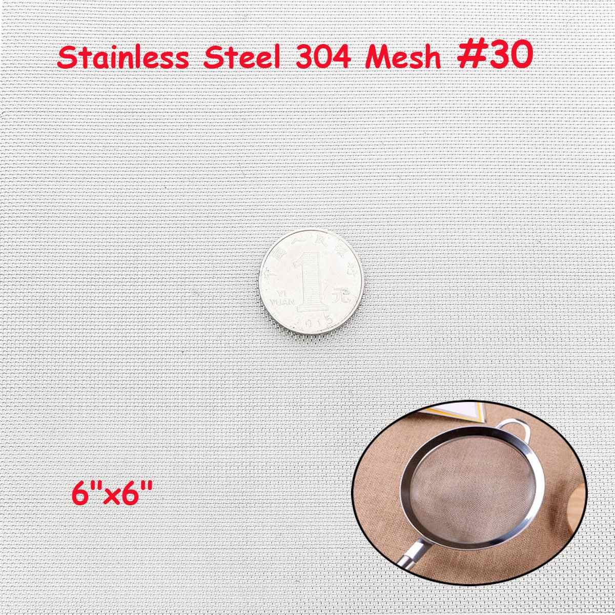 NEW 15x15cm Woven Wire 304 Stainless Steel Filtration Grill High Quality <font><b>Screening</b></font> Filter Sheet Filter 30 Mesh image