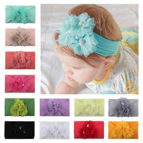 Niños bebé niña niño sólido banda pelo diadema Accesorios de cabeza para bebé