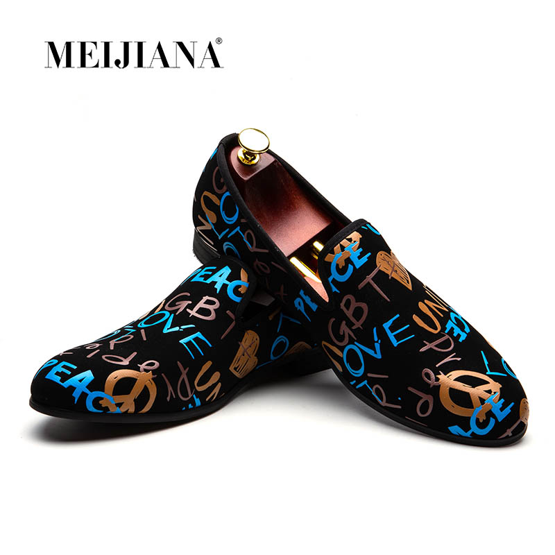 MEIJIANA Fashion Casual Shoes Men Loafers Brand Men Shoes 2019 New Colorful Graffiti Party ShoesMEIJIANA Fashion Casual Shoes Men Loafers Brand Men Shoes 2019 New Colorful Graffiti Party Shoes