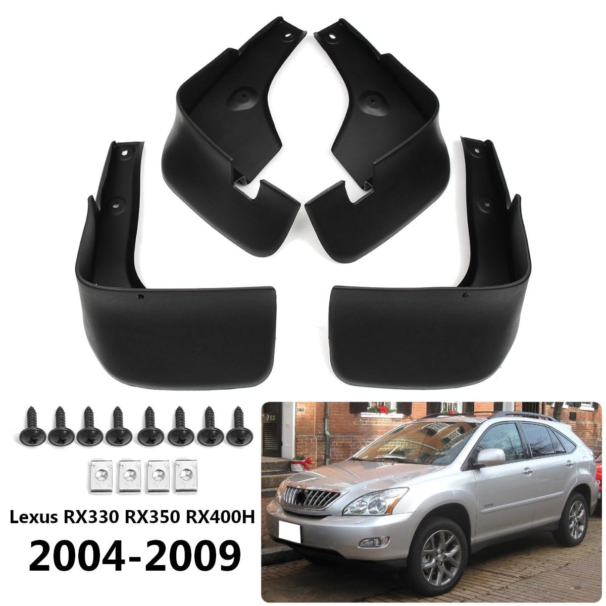 Lexus rx330 rx350 rx400h 2004-2009 mudflaps mudguards 스플래시 가드 펜더 액세서리 용 전면 리어 카 머드 플랩