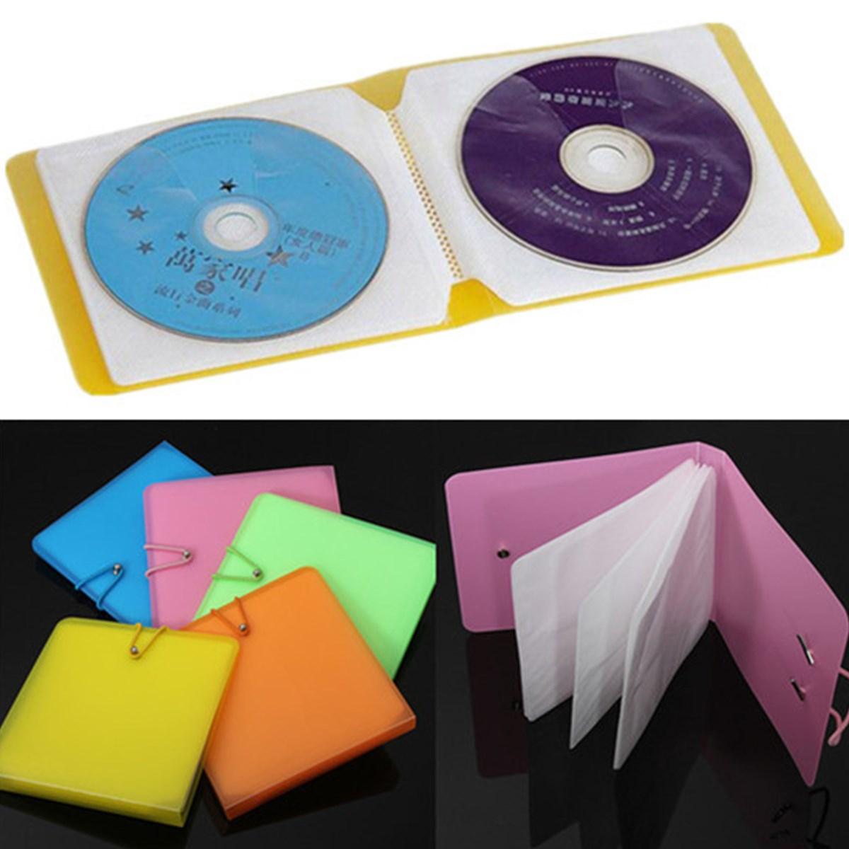New 12 Disc Platics  Album Box For CD VCD DVD Portable Wallet Storage Holder Bag Hard Case Boxes Holder Organizer Carry Case