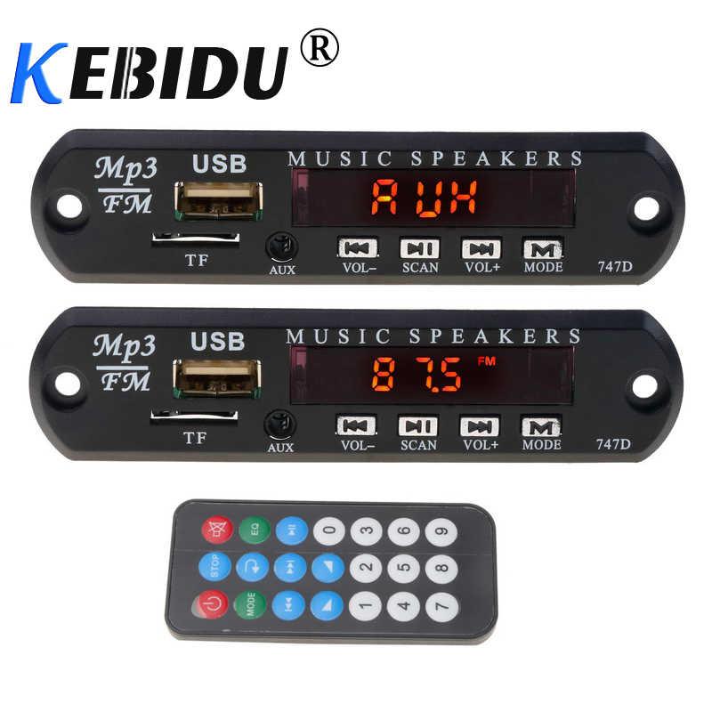 KEBIDU Per Auto FAI DA TE 5V 12V MP3 Modulo Scheda di Decodifica TF di FM Radio Speaker Lettore Audio AUX 3.5MM di Potere del USB di Alimentazione + Telecomando