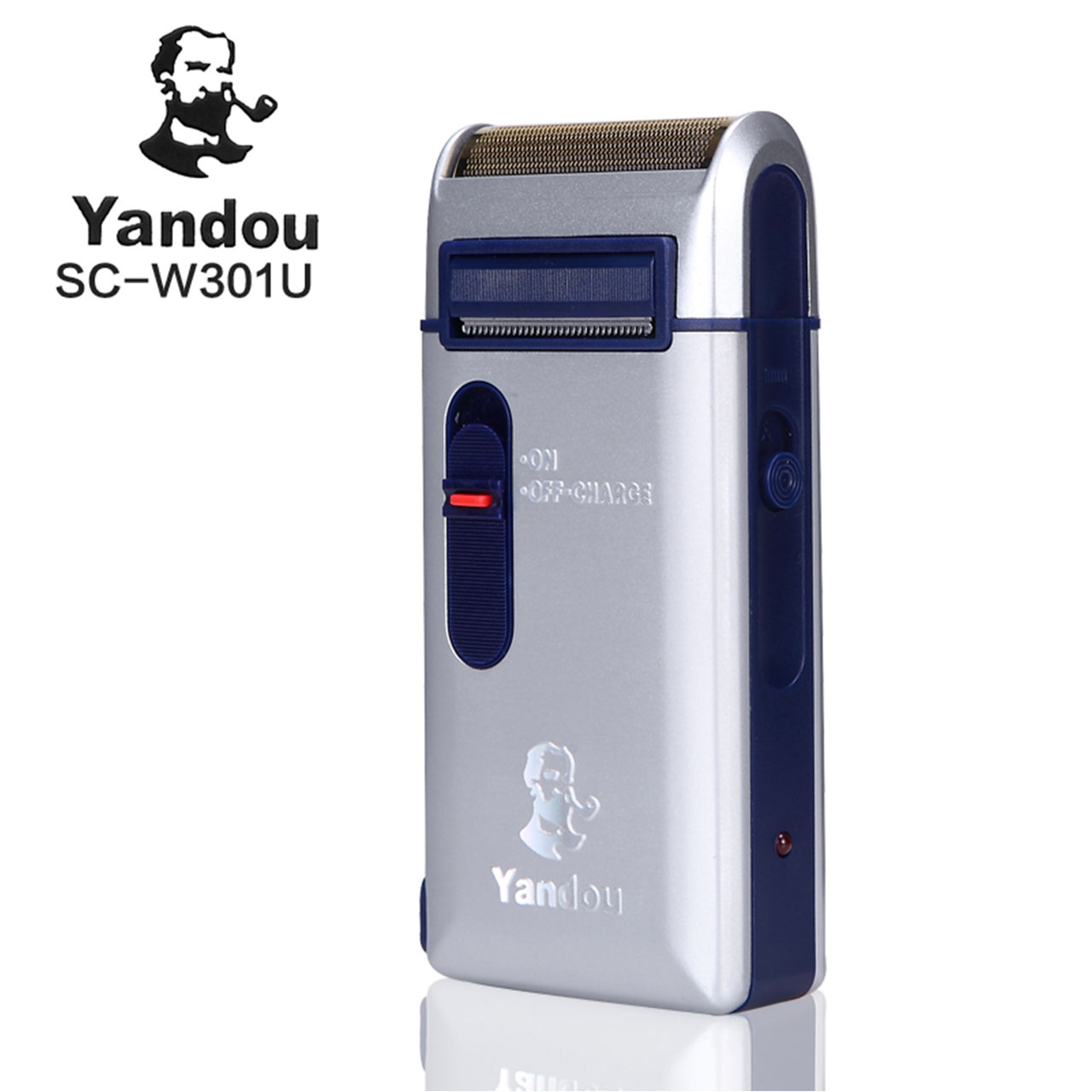 Yandou Brand Shaver Rechargeable Long Life Silver Classic Electric Razor Men's Razor Shaver Rechargeable Men Sideburns Trimmer