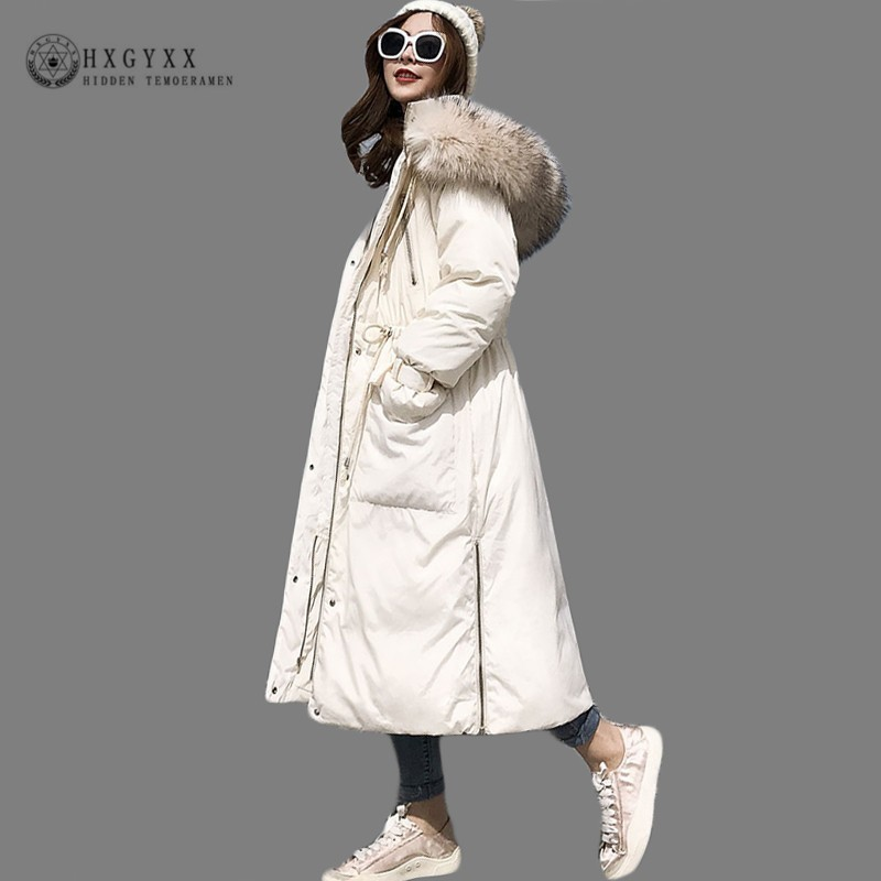 Thick Long Military   Parka   Female Winter Jacket Women Coat Plus Size Cotton Padded Outwear Fur Collar Pleated Snow Wear Okd546