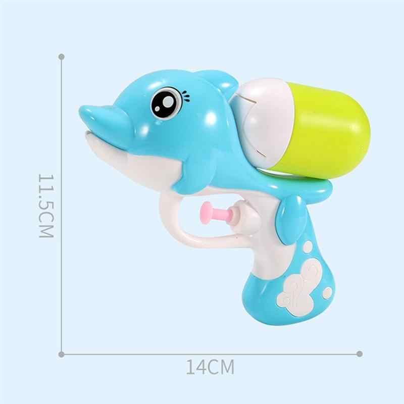 14 см Детский мультфильм водяной пистолет милый дельфин вода пляж игрушки Мини красочное животное для детей стрельба игра просветить игрушки подарки