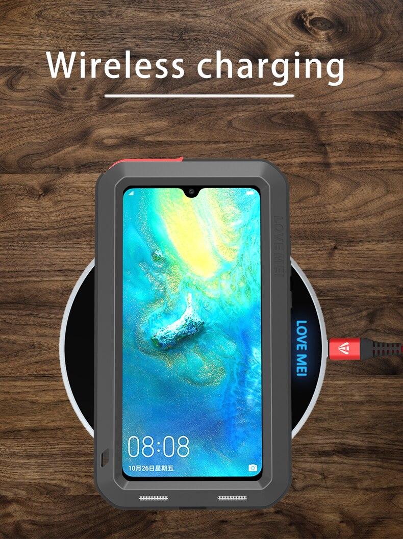 Pour Huawei P30 Pro Lite Original Lovemei aluminium métal + gorille verre choc goutte étui pour Huawei Mate 20 pro/8 9 - 6
