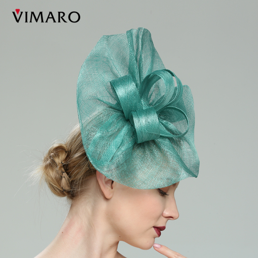 b50c04e8 VIMARO Teal Hair Fascinators Hats For Women Elegant Fascinators For Weddings  Hats And Fascinators Hair Accessories Headbands-in Women's Hair Accessories  ...