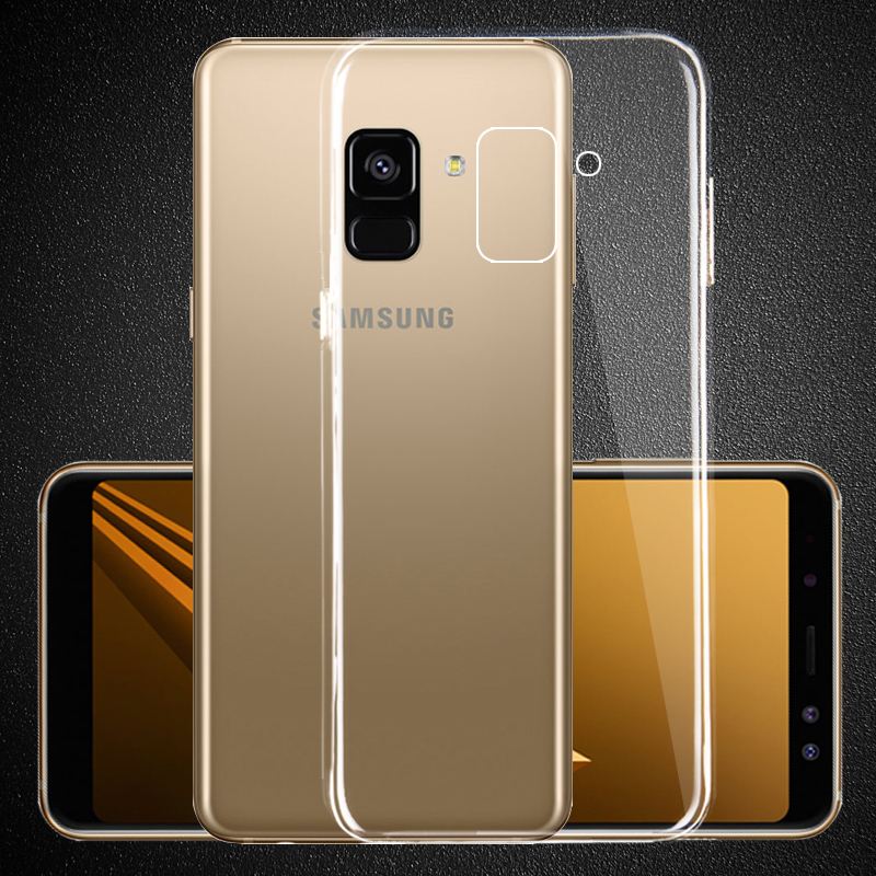 Ultra Thin Clear Soft Gel TPU PC Case For Samsung Galaxy Note9 S10 S9 Plus A750 J8 A6 A8 2018 J4 J6 Plus Silicone Back Cover