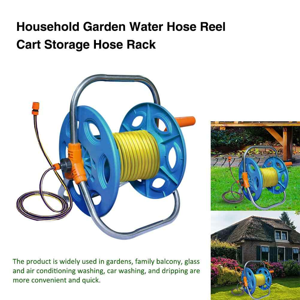 Portable 20m 30m 40m Household Garden Water Hose Reel Cart Pipe Storage Car Washer PipeHose Winding Tool Rack Holder