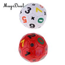 Durable de la PU pelota de fútbol de tamaño 2 de entrenamiento de fútbol  balón de fútbol-15 cm de diámetro-rojo blanco d2248f57290d9