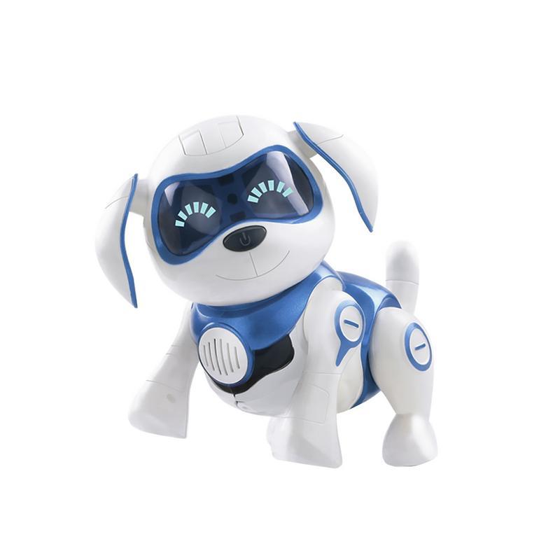 Robot perro electrónico juguetes para mascotas Robot inalámbrico cachorro Sensor inteligente caminará hablando remoto perro Robot mascota juguete para niños niños Niñas