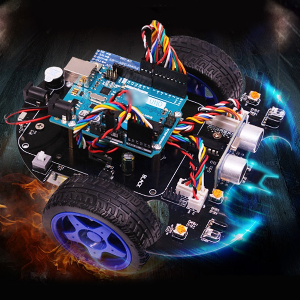 Rowsfire Bat Robot inteligente coche proyecto completo Starter Tutorial alta tecnología programable juguete para Arduino Kit de prueba para niños adultos-in Juguetes programables from Juguetes y pasatiempos    2