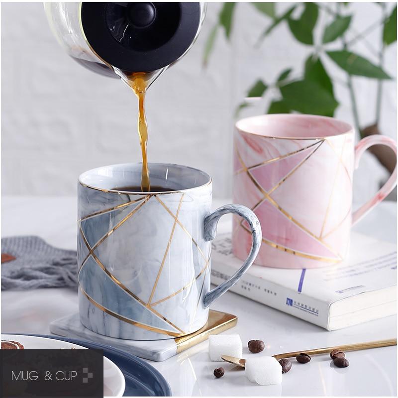 Marble Porcelain Coffee Mug Cup