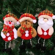 Christmas Snowman Tree Hanging Ornaments Gift Hang Decoration Christmas Santa Claus Elk Reindeer Toy Doll Hanging Decorations