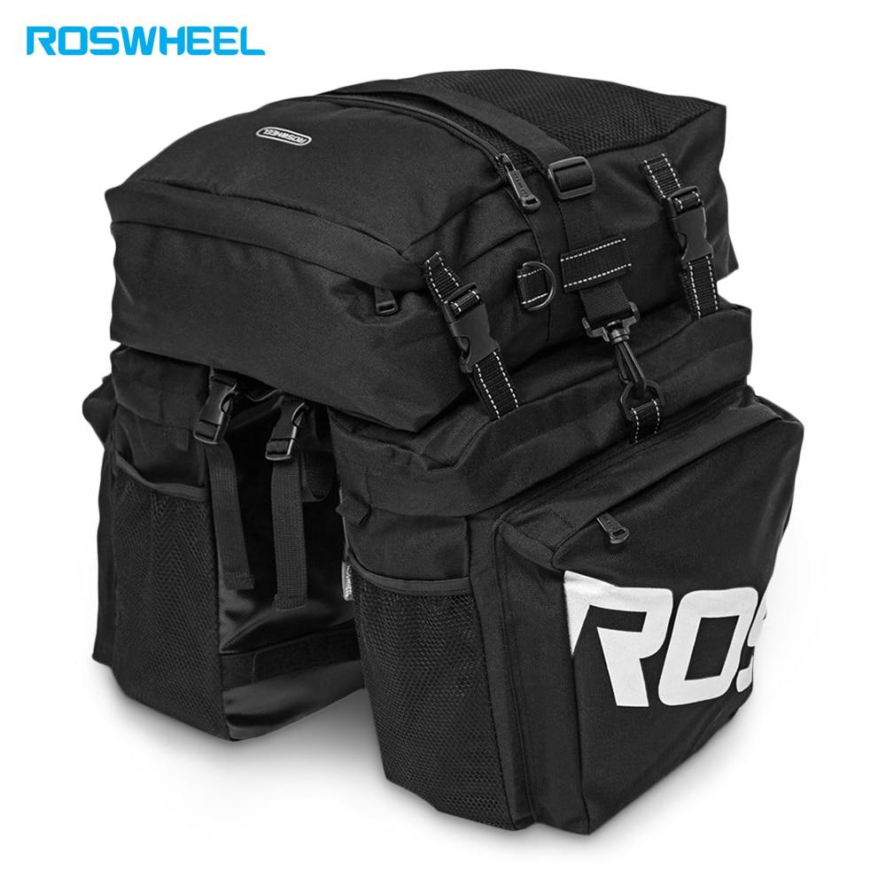 Roswheel Bike Carrier Bag Bicycle Panniers Bike 37L Durable Waterproof 3 In 1 Bicycle Rear Pannier