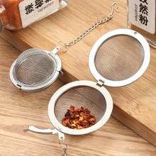 Stainless Steel Seasoning BallsTea Filter Tea Tools Locking Spice Egg Shape Ball Mesh Infuser Tea Strainer Home Accessories(China)