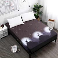 Colcha textil para el hogar 100% juegos de cama de poliéster sábanas ajustadas fundas de cama suaves elásticas colchón de protección de cama individual 45