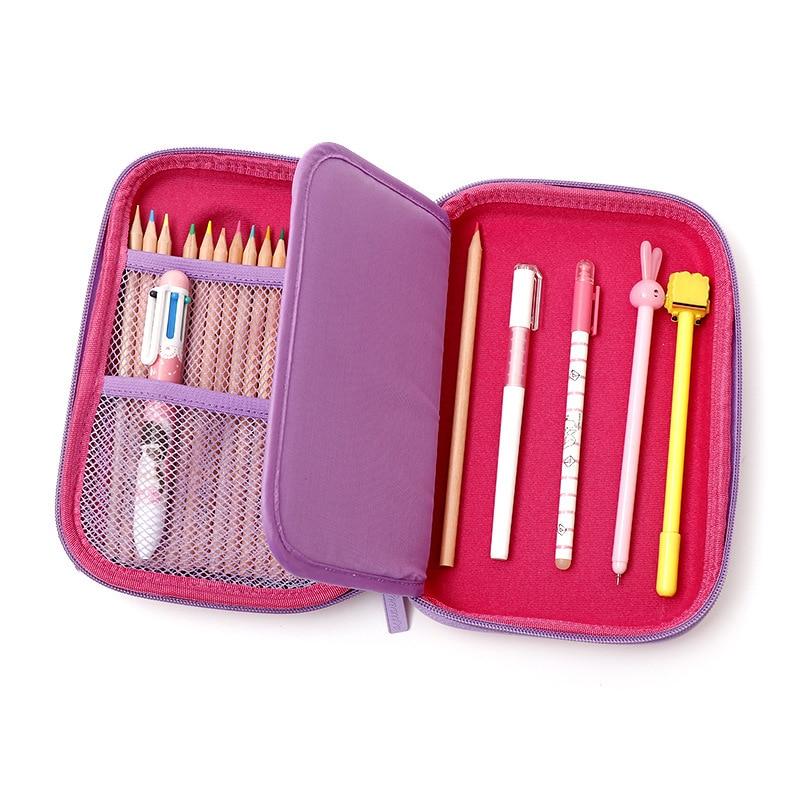 3D Stereo Flamingo Pencil Case EVA Zipper Storage Pencil Box Estuche Escolar Pencilcase School Supplies Stationery Unicorn Kalem in Pencil Cases from Office School Supplies