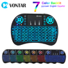 VONTAR i8 keyboard backlit English Russian Spanish Air Mouse 2.4GHz Wireless Touch pad Handheld for TV BOX Android X96
