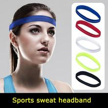 Headband Sweat Band Outdoor Sport Run Football Tennis Yoga Headscarf Silicone Anti-slip Elastic Hair Ribbon For Men And Women