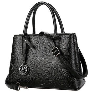 NEW-Aibkhk Crossbody Bags For Women Fashion Flower Leather Handbags Designer Famous Brand Casual Tote
