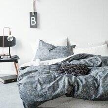 simple 100% cotton The letter printing grid stripes Leopard grain duvet cover pillowcase 3pcs black and white bedding set