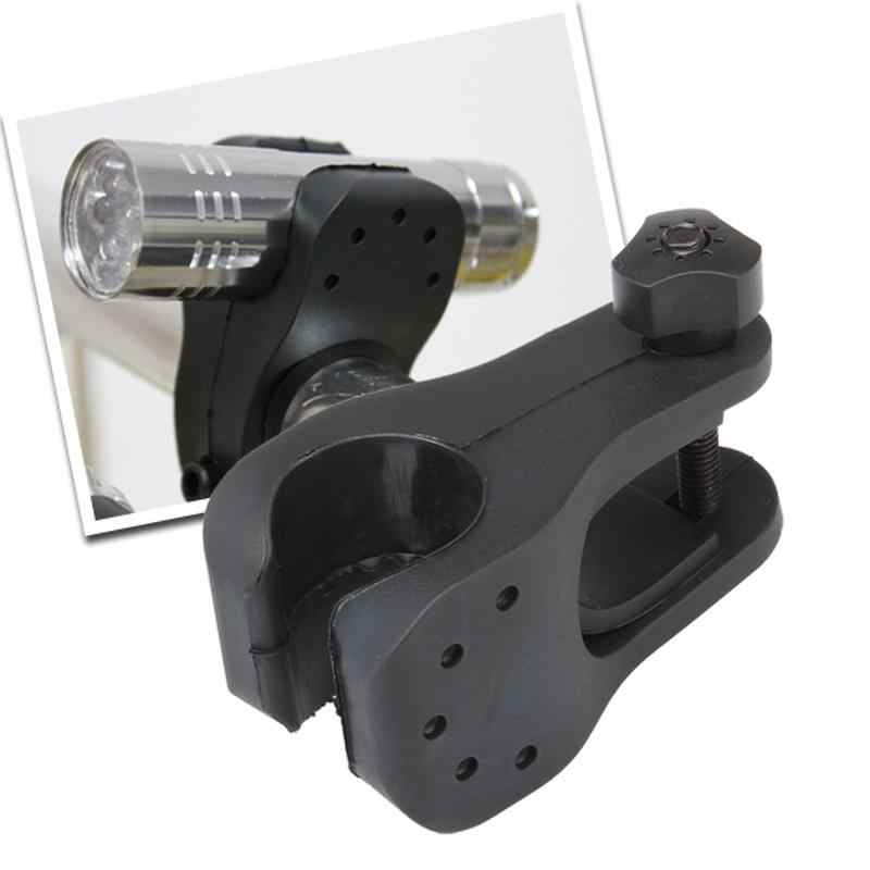 Novo 2.5cm suporte da lâmpada do farol de bicicleta montar mtb estrada da frente ferroviário luz acessórios montagem fácil fixação da bicicleta adereços