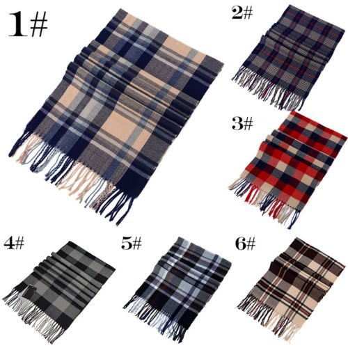 Unisex New Fashion Wool Royal Stewart Red & Black Watch Tartan Scarves Mens Womens Plaid Scarf Mens Fashion Scarves tartan