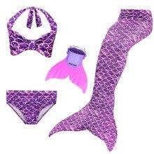 New Girls Swimming Mermaid Tails Costume Little Children Ariel Swimsuit Kids Swimwear Bathing Suit Can Add Fin