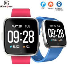 цены на Fitness Bracelet Heart Rate Monitor Pedometer IP67 Waterproof Bluetooth Smart Wristband Women Tracker Watch for Android IOS  в интернет-магазинах