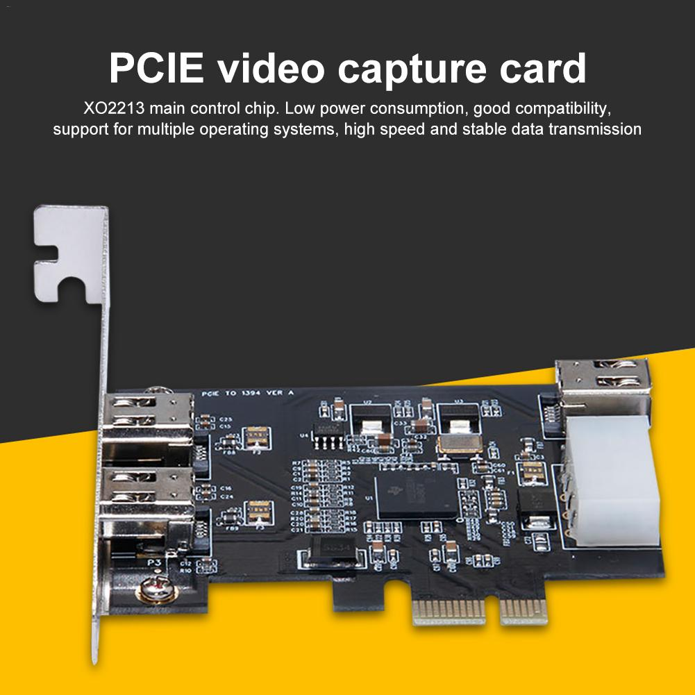 1394A PCIE Video Capture Card IEEE 1394 Interface 4K Resolution FireWire Compatible All Operating System PCIE Video Capture Card