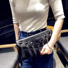 Women Envelope Clutch Bag Chain Tassel Messenger Female Crossbody Luxury Evening Bags CluMessenger
