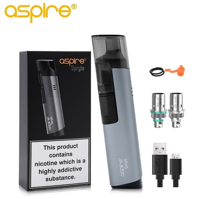 Electronic Cigarette Aspire Aspire Spryte AIO Starter Kit Replaceable Cartridge Pod System Can Change1.8/1.2ohm Regular BVC Coil