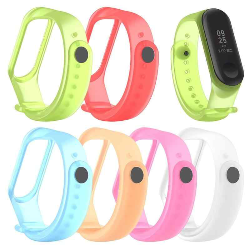 Newest Replaceable Translucent TPE Material Adjustable Smart Watch Band Bracelet Wrist Strap for Xiaomi MI Band 3