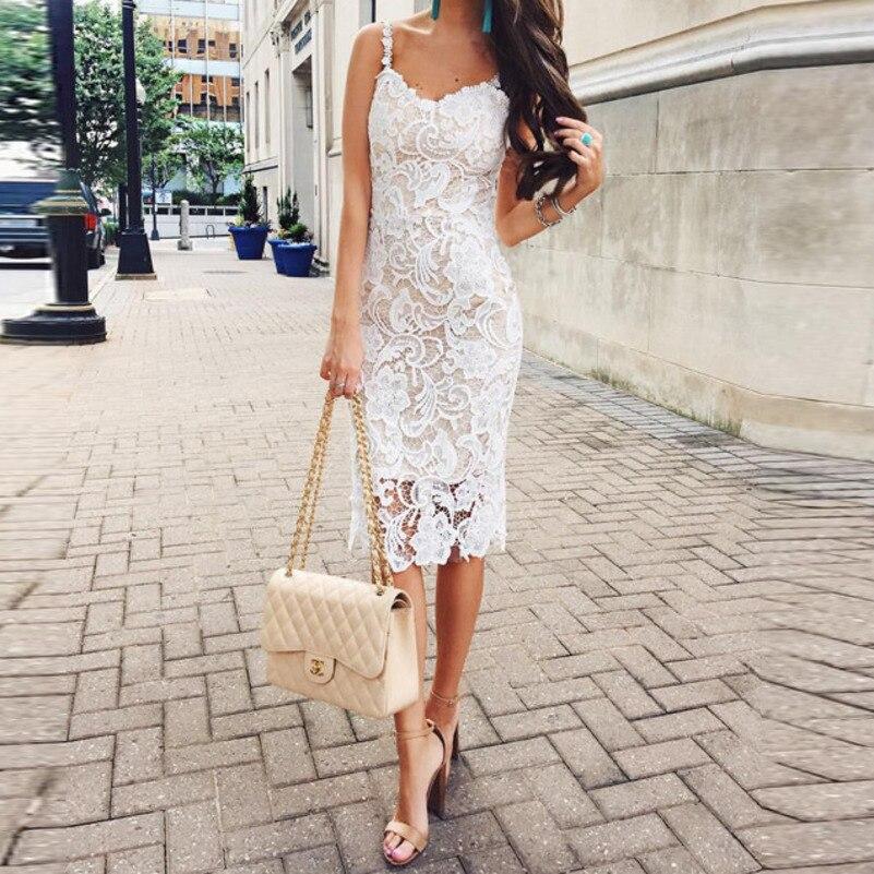MUXU white lace bodycon dress backless vestidos women clothing kleider fashion clothes sukienka suspender streetwear