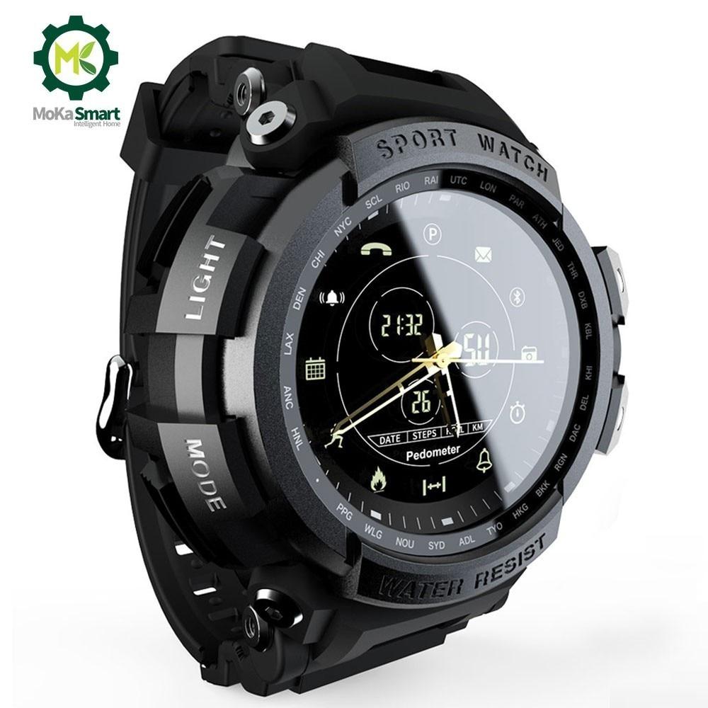 MOKA SmartWatch Sport Professional 5ATM Waterproof Call Reminder Digital Bluetooth Men Clock Sport Watch For ios