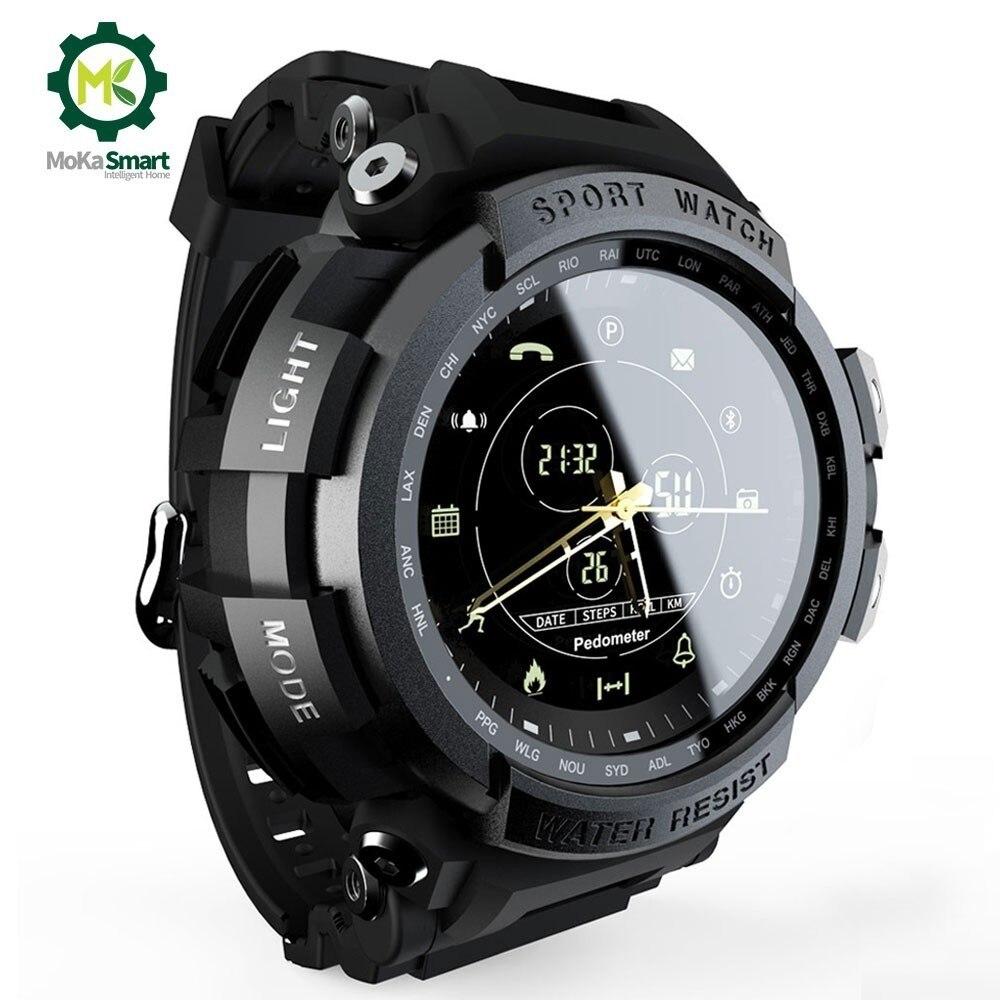 MOKA SmartWatch Sport Professionelle 5ATM Wasserdichte Anruf Erinnerung Digitalen Bluetooth Männer Uhr Sport Uhr Für ios