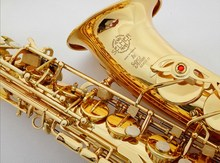Best Selling ORIGINAL SELME Alto Saxophone 80 E Flat Electrophoresis Gold Saxe Top Musical Instrument with all accessory