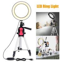 VODOOL 7.9 inch Camera Studio Tripods Accessories Phone Video LED Ring Light Dimmable Fill in Light+Camera Tripod Drop Shipping