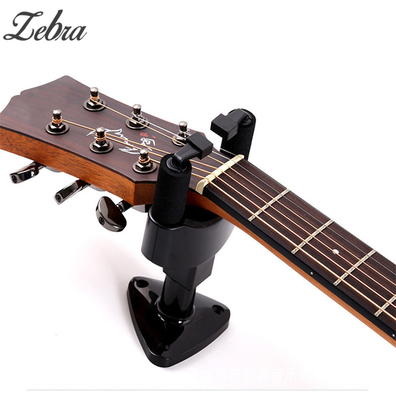 Zebra Guitar Wall Mount Stand Hook Usual Sizes Bass Ukulele Guitar Wall Display Bracket  Stringed Instruments Guitar Accessories
