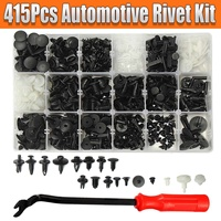 415Pcs/Set Car Body Plastic Rivet Fasteners Trim Moulding Clip Assortments Retainer Fastener Clips Panel Puller Tool for Ford