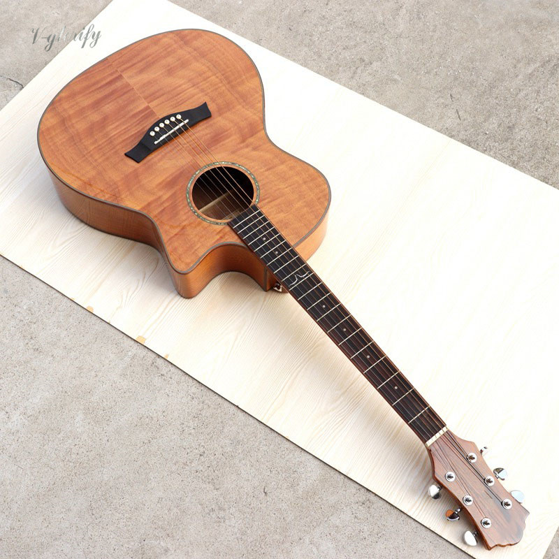 40 inch flame maple top 6 string acoustic electric guitar with EQ40 inch flame maple top 6 string acoustic electric guitar with EQ