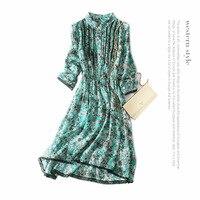 100% шелковое платье с цветочным принтом для подиума